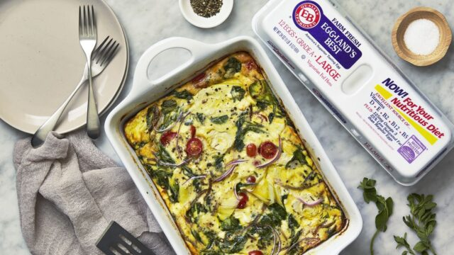 Make-Ahead Mediterranean Egg Casserole