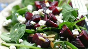 Roasted Beet Goat Cheese Salad